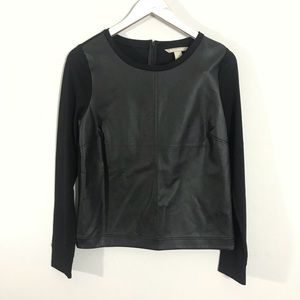 Banana Republic Faux Leather Top